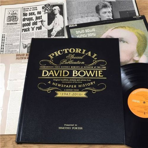 Personalised David Bowie - Newspaper Book with gift box